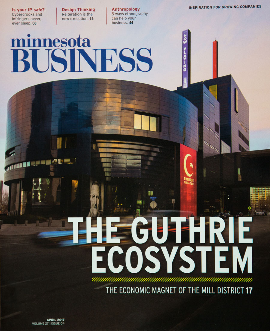 Minnesota Business cover, Guthrie Theater July 2017