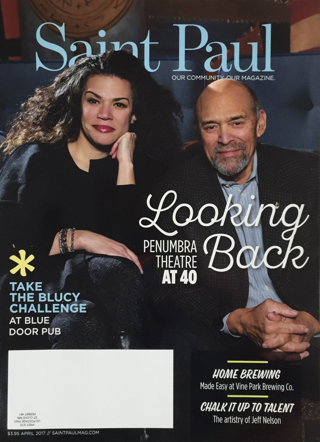 Saint Paul Magazine cover Penumbra Theatre April 2017
