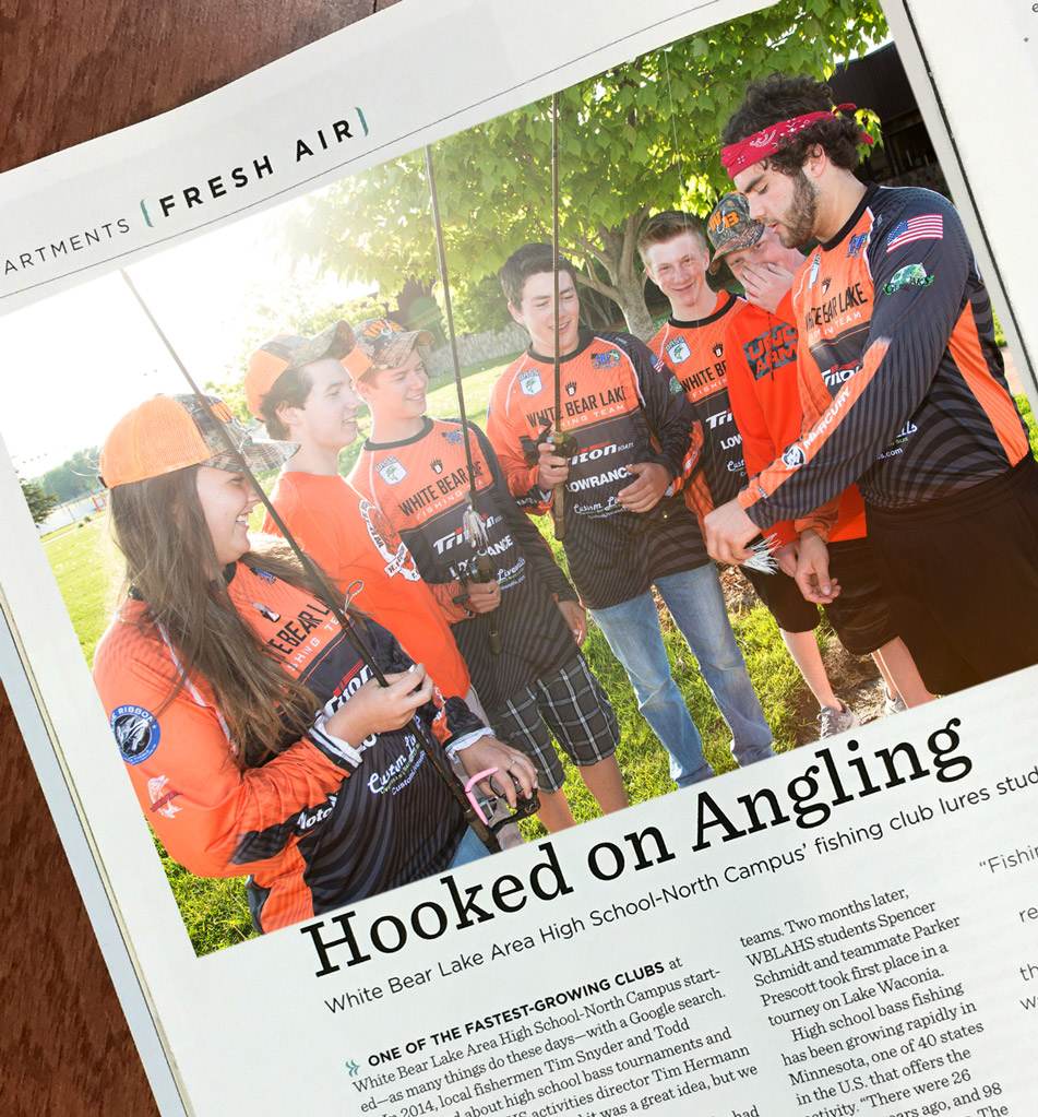 White Bear Lake Magazine fishing July 2017